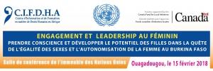 Conférence publique sur l'engagement et leadership des femmes